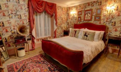 Moulin Rouge style bedroom in Broadstairs bed and breakfast