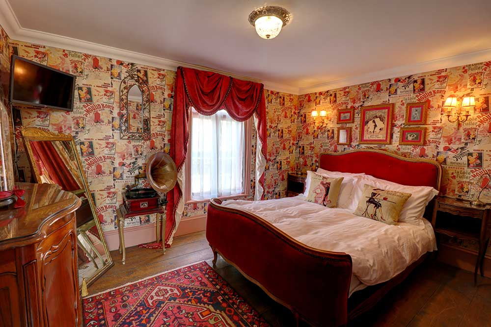 Moulin Rouge styled bedroom in Broadstairs bed and breakfast