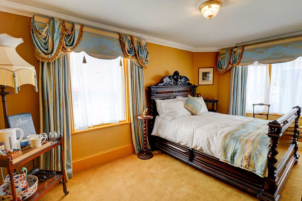 Victorian style bedroom in Ramsgate bed and breakfast